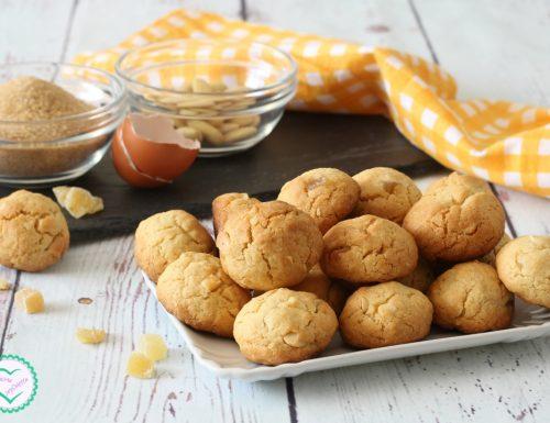 Biscotti alle mandorle e zenzero candito