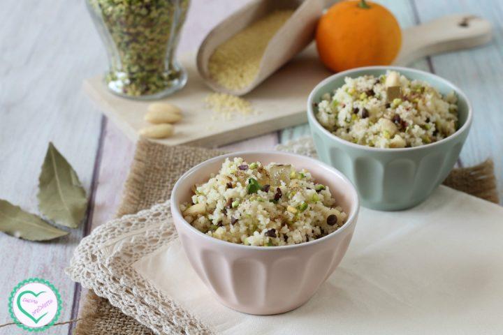 Couscous dolce con mandorle e pistacchi