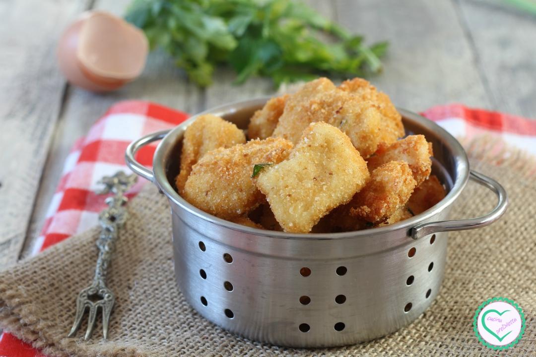 Petto di pollo impanato fritto