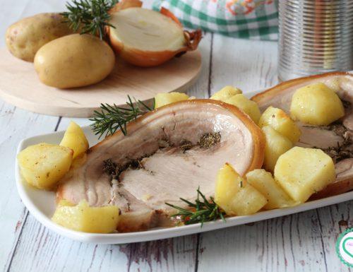 Porchetta al forno con patate
