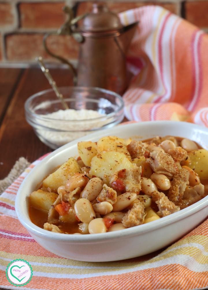 Trippa con fagioli e patate