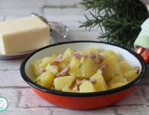 Patate al burro con pancetta