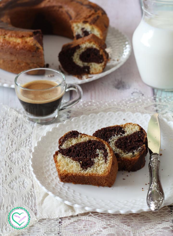Ciambella bigusto vaniglia e cacao