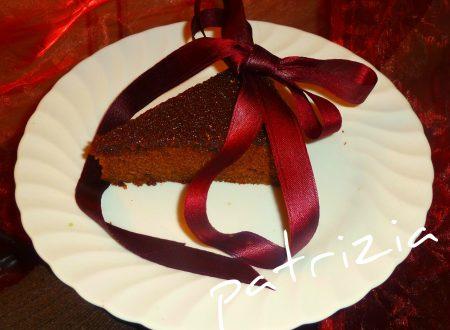 torta al vino rosso con farina di riso integrale e cacao