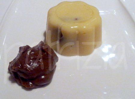 budino di semolino all'anice con crema di liquirizia