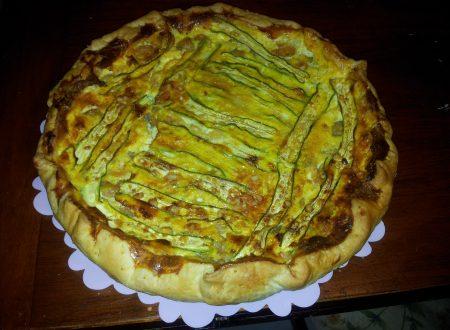 torta salata di zucchine e mazzancolle