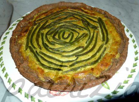 crostata integrale al basilico con patate e fagiolini