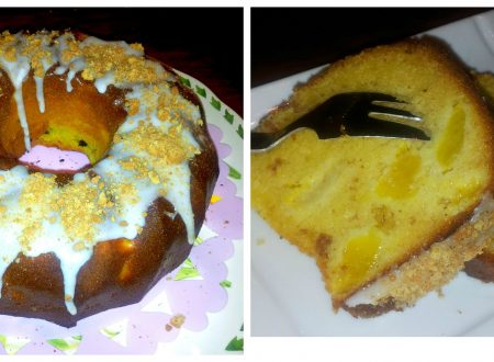 torta pesche e amaretti