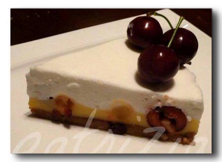 cheesecake di ciliegie e lemon curd