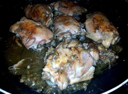 pollo alla birra con cipolle rosse di tropea