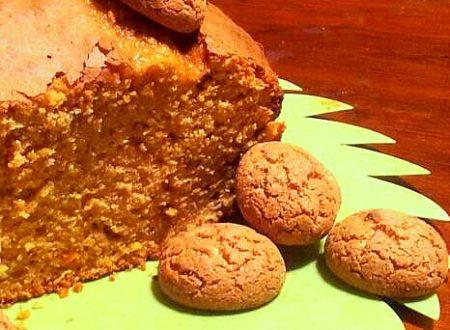 plum cake agli amaretti e arancia, ricetta light