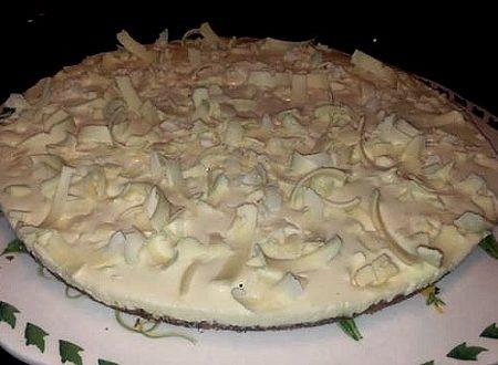 torta fredda amaretti e vaniglia con cioccolato bianco
