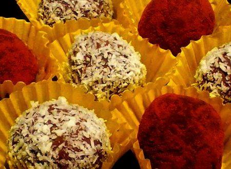 tartufi di ricotta al caffè e cioccolato