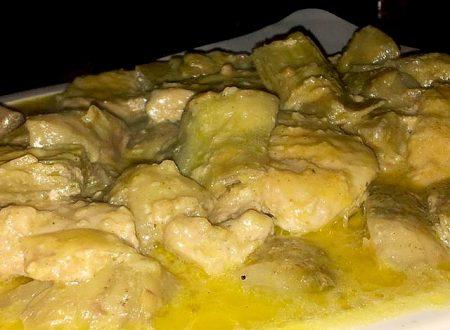 medaglioni di tacchino al curry con carciofi