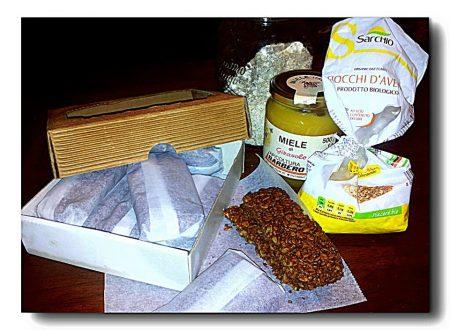 barrette d'avena e cacao amaro, snack spezzafame light