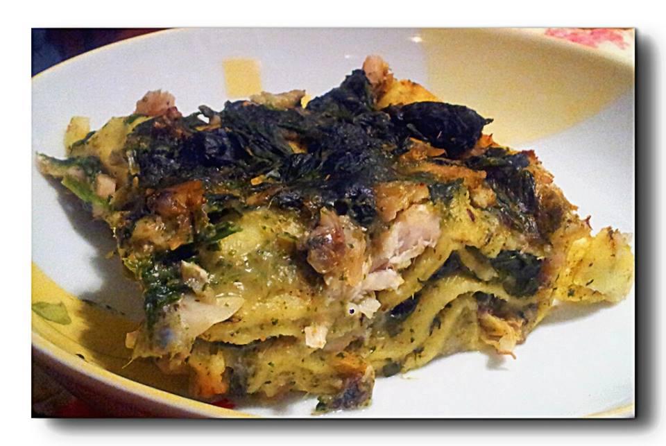 lasagne besciaella pesto
