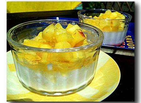 pina colada, budino di latte di cocco con ananas al rum