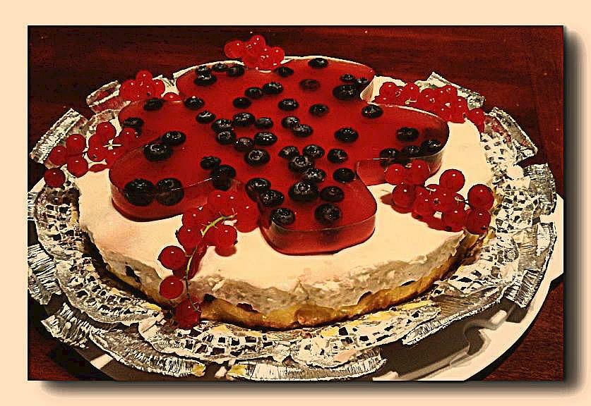 torta fredda frutti di bosco