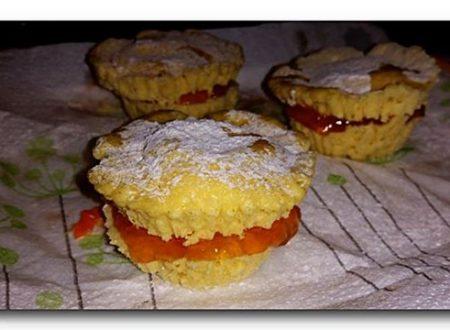 tortini al cocco e marmellata con cottura in microonde