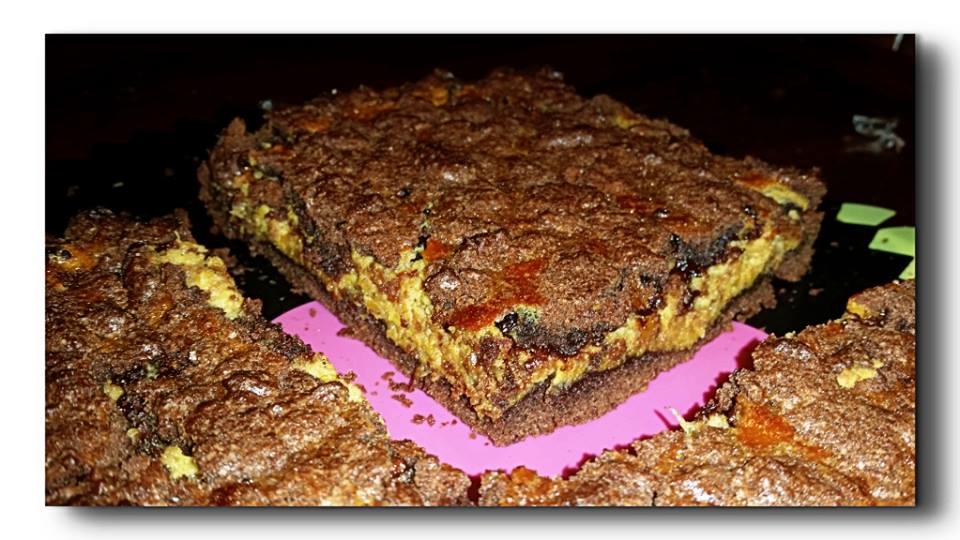 crostata al cacao di zucca e amaretti