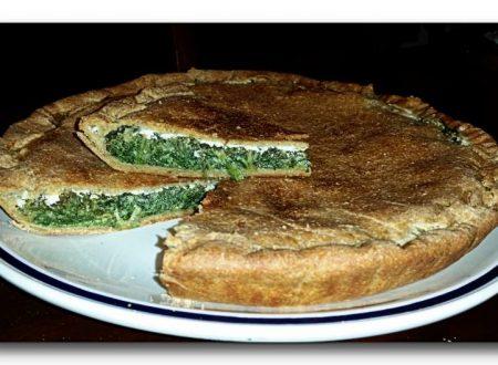 crostata integrale di spinaci ricetta light
