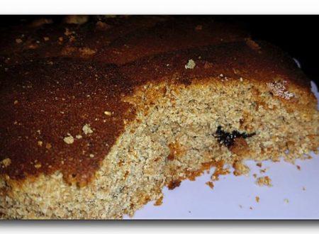 torta integrale al miele con prugne, no uova, no latte, no burro