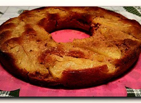 torta rovesciata all'ananas, integrale con miele, senza burro e uova