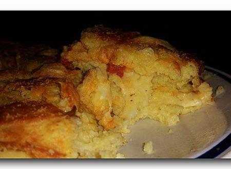 tortino morbido di patate con provolone e salame piccante