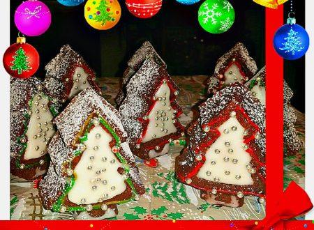 tortine alberelli 3D al cioccolato