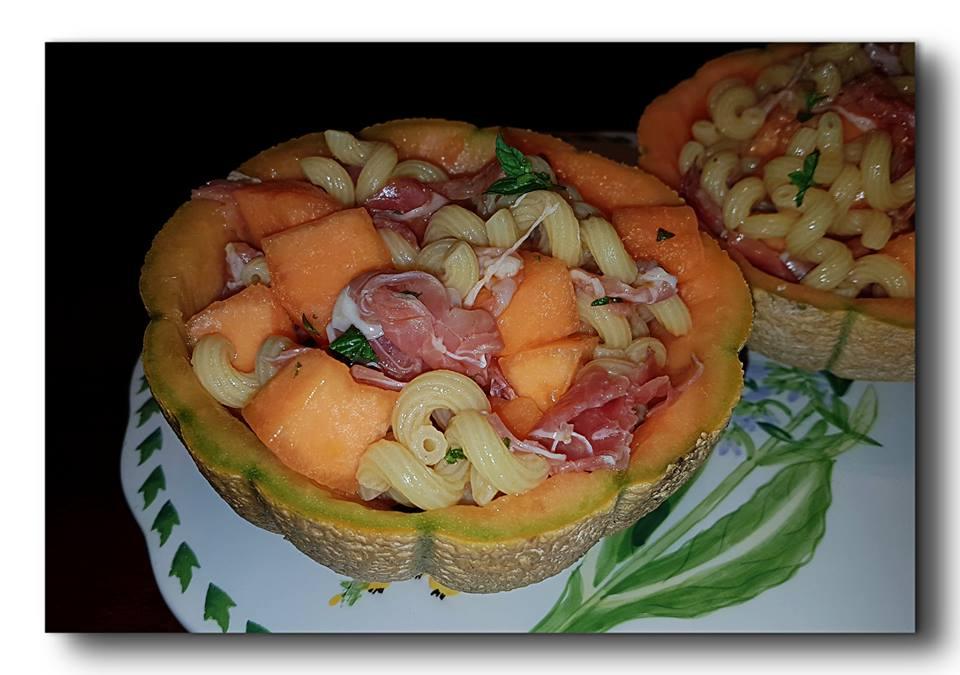 pasta prosciutto e melone