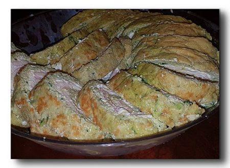 rotolo di zucchine e prosciutto cotto ai formaggi