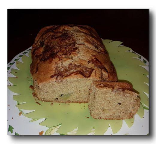 plumcake integrale di kiwi con olio e acqua