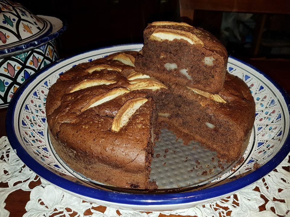 torta di mele al cioccolato, senza uova