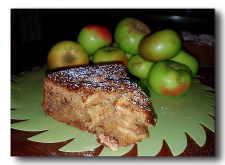 torta integrale di meline selvatiche e noci