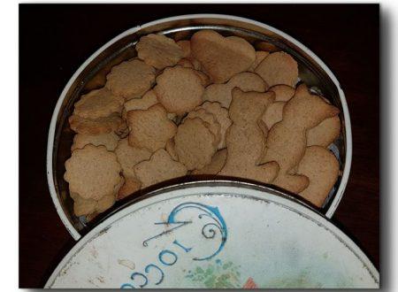 biscotti integrali speziati, con olio e miele