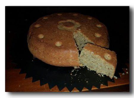Torta integrale alle noci e fiocchi di avena, senza burro