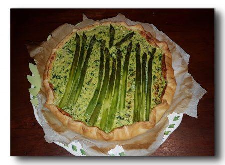 Torta salata di asparagi e spinaci