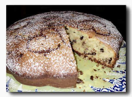 torta di patate dolci e gocce di cioccolato