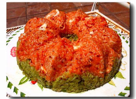 Corona di cereali bigusto: pomodoro mozzarella e pesto fagiolini