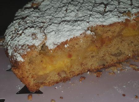 Torta morbida pesche e noci senza uova senza burro