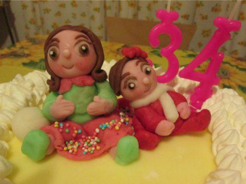 Le mie torte con decorazioni in pasta di zucchero