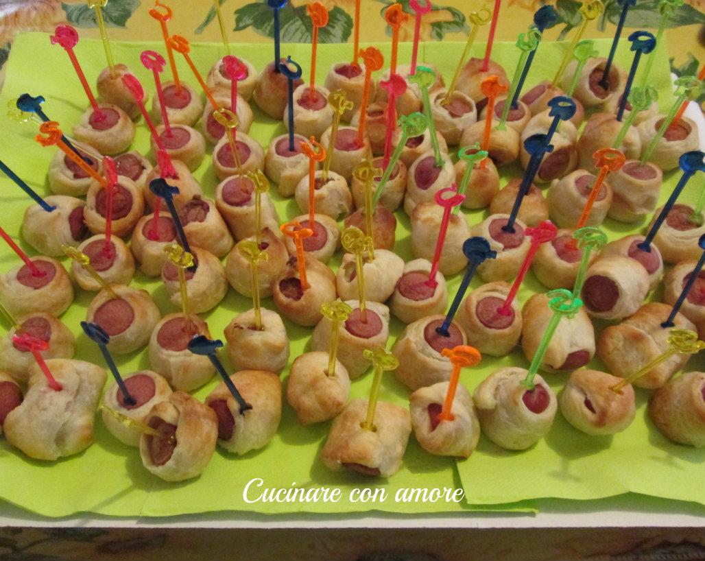 Rustici ai wurstel ricetta cucinare con amore for Cucinare wurstel