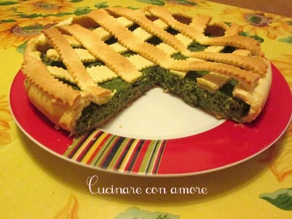 Crostata di ricotta e spinaci cucinare con amore for Cucinare spinaci