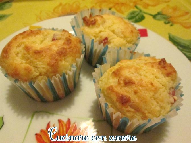 muffins salati con ricotta e prosciutto cotto