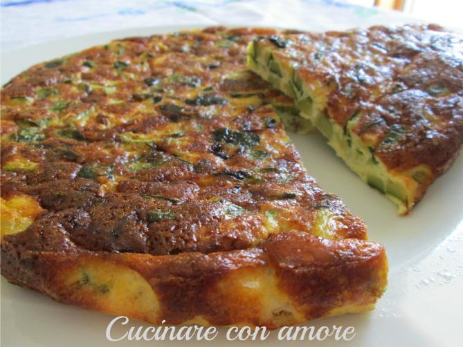Frittata di zucchine al forno cucinare con amore for Cucinare le zucchine