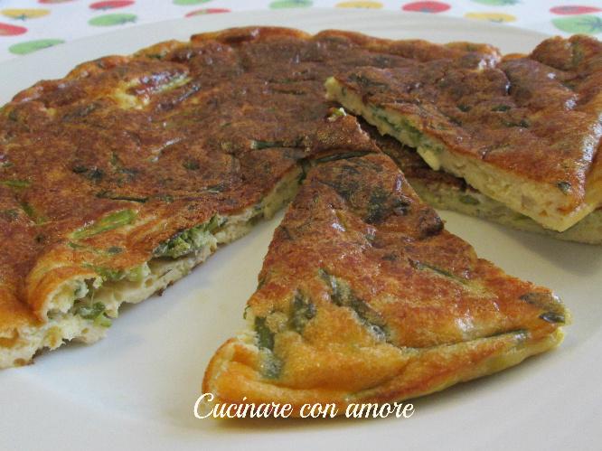 Frittata di asparagi al forno cucinare con amore for Cucinare asparagi
