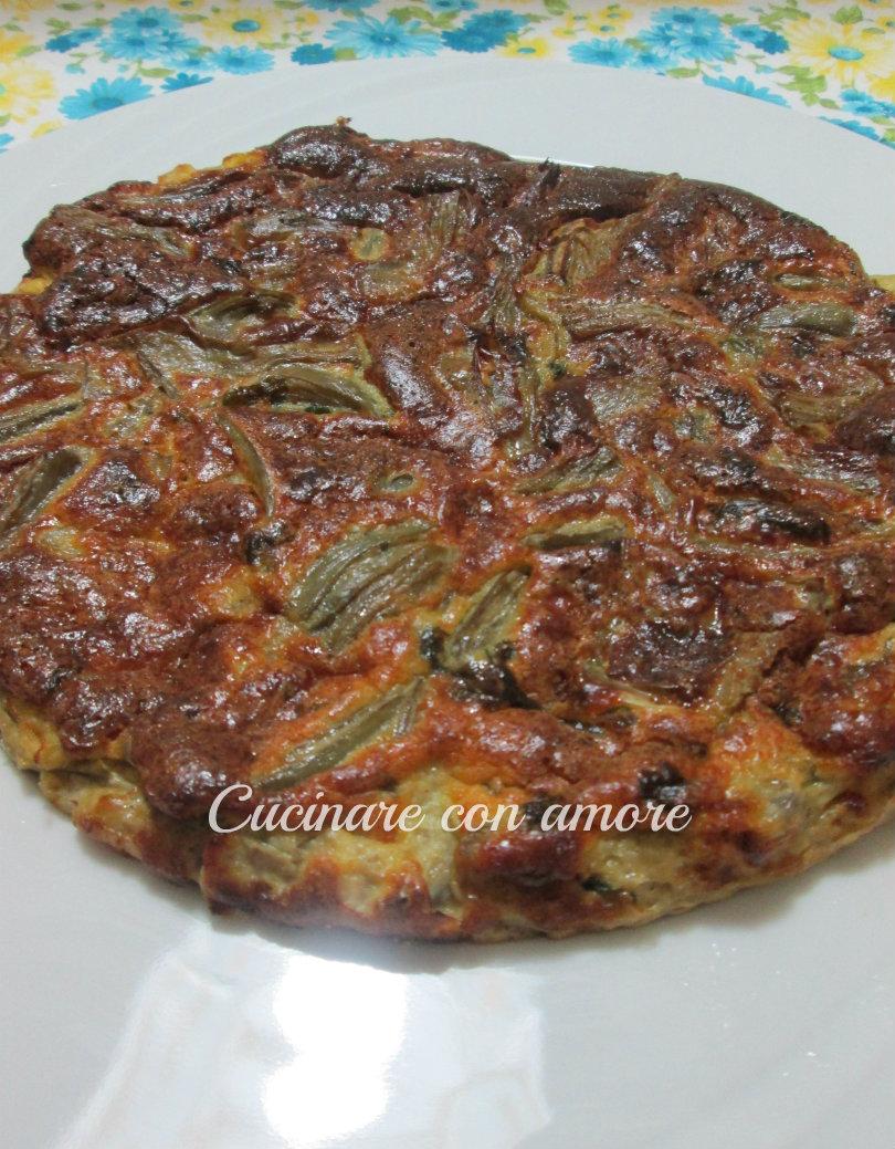 Frittata di carciofi al forno cucinare con amore for Cucinare carciofi