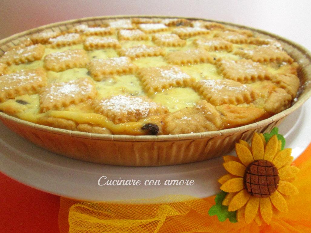 Crostata ricotta pera e cioccolato