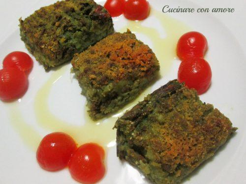 Tortino di patate e spinaci