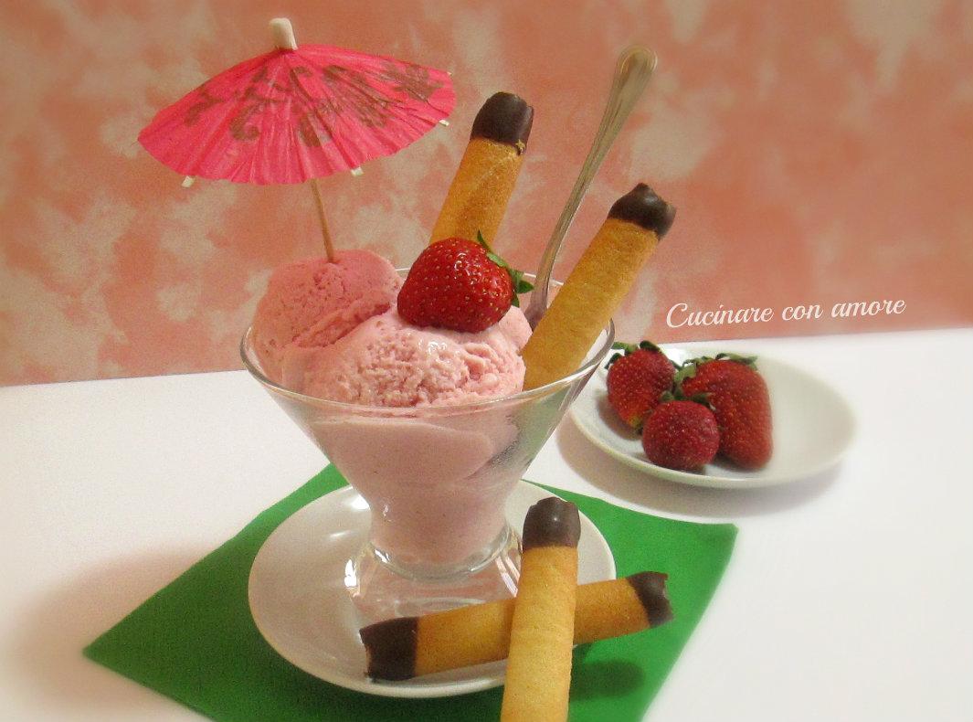 gelato alla fragola senza gelatiera